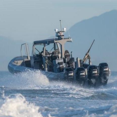 军事舰艇 / 舷外 / 铝制 / 刚性充气艇