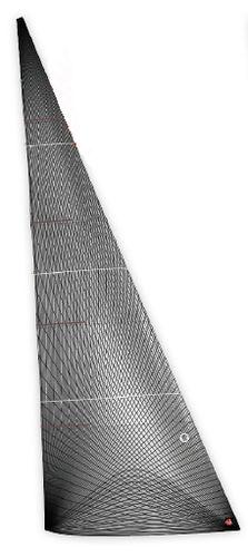 前帆 / 竞赛帆船用 / 膜式 / 碳纤