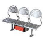 客船用座椅 / 3 人座 / 不锈钢