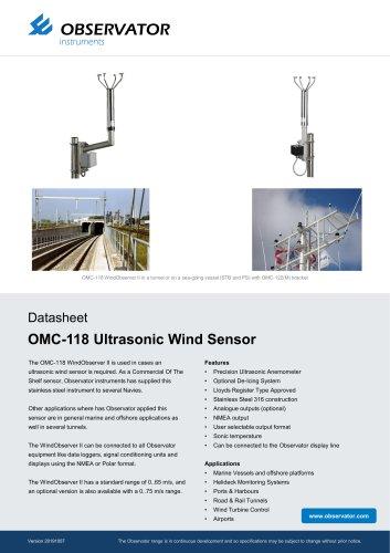 OMC-118 Ultrasonic Wind Sensor