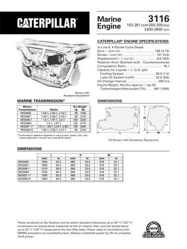 Cat 3116 Propulsion