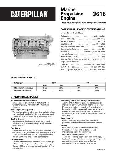Cat 3616 Propulsion Spec Sheets