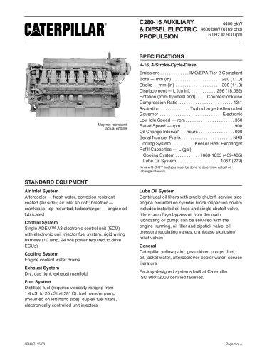 Cat C280-16 Genset Spec Sheet