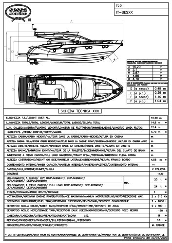 FLY 52 - Technical specifications