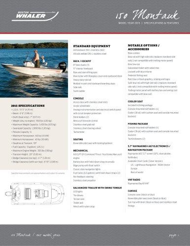 150 Montauk Specifications - 2015