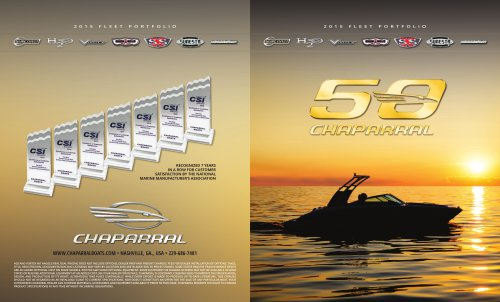 2015 Chaparral Fleet Brochure