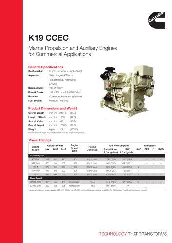 K19 CCEC Commercial Marine Spec Sheet