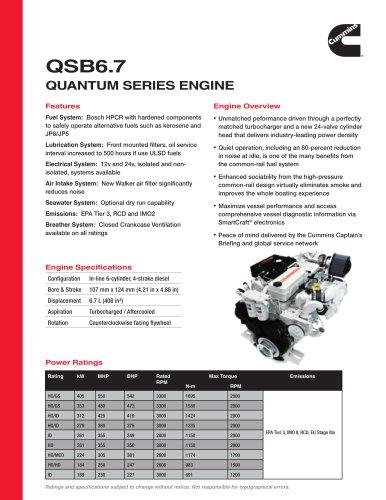 QSB6.7 Quantum Series Engine