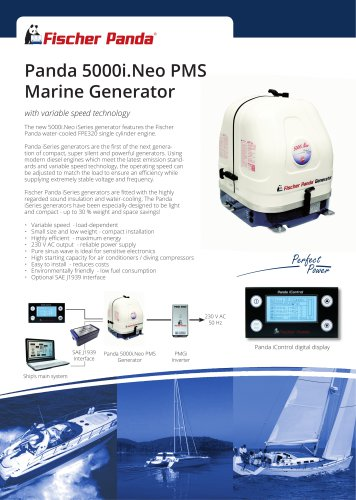 Panda 5000i.Neo PMS Marine Generator