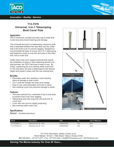 Telescoping Boat Cover Pole