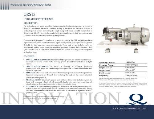HPU QRS15