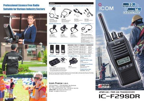 Leaflet IC-F29SDR licence free radio