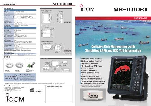 MR-1010RII Marine radar