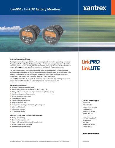 LinkPRO / LinkLITE Battery Monitors