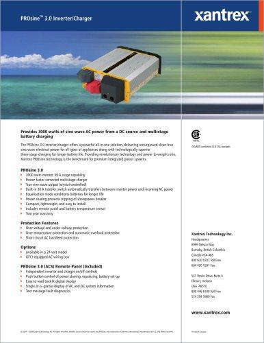 PROsine TM  3.0 Inverter/Charger