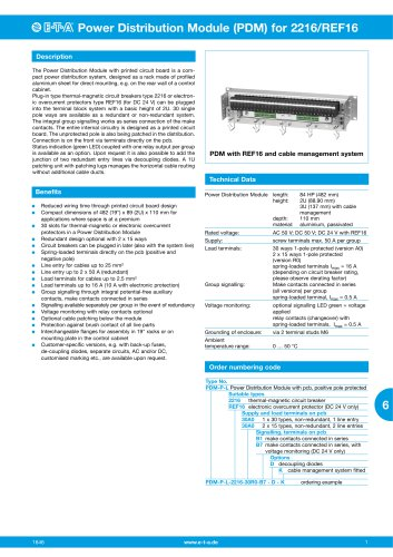 Power-Distribution-Module for 2216/REF16