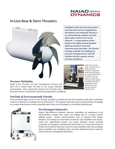 In-Line Bow & Stern Thrusters