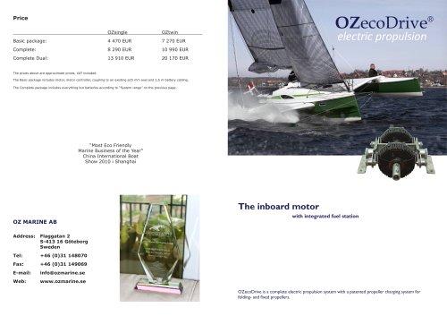 Product leaflet OZecoDrive 2012