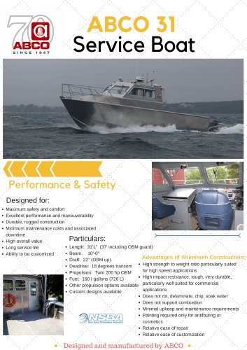ABCO 31' Service Boat