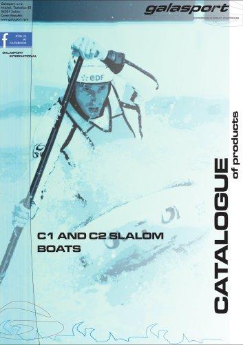 C1 and C2 slalom boats catalogue