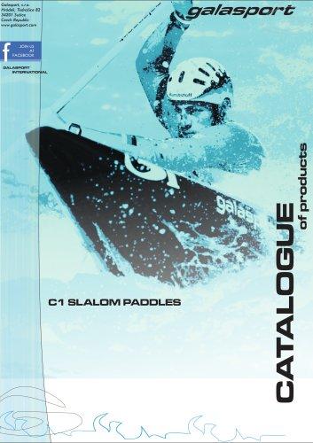 C1 slalom paddles catalogue