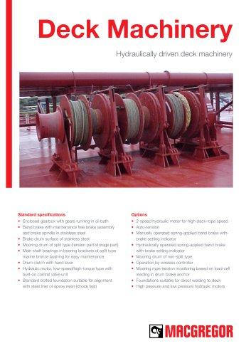 Hydraulically driven deck machinery