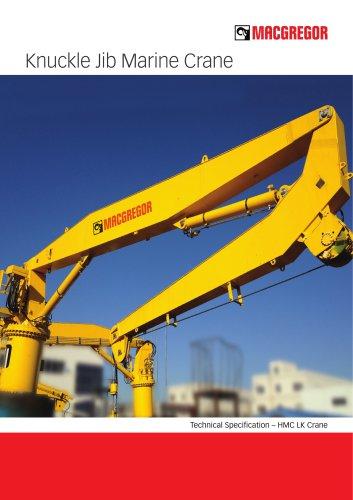 Knuckle jib marine crane