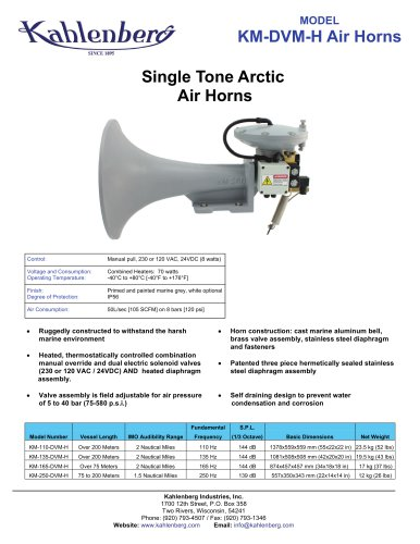 KM-DVM-H Air Horns