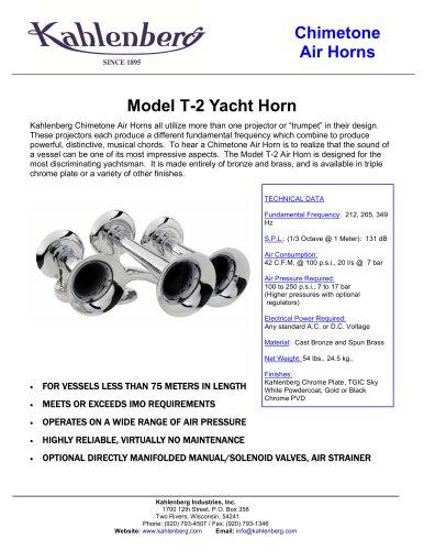Model T-2 Yacht Horn