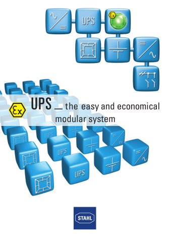 UPS _ the easy and economical modular system