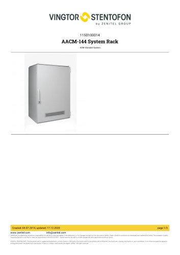 AACM-144 System Rack