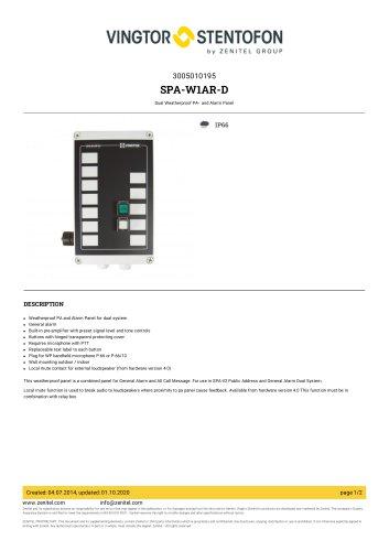 SPA-W1AR-D