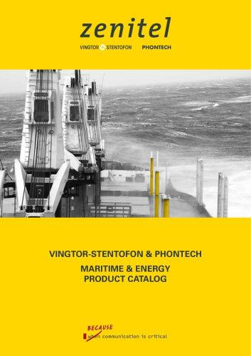 Vingtor-Stentofon Phontech Maritime & Energy Catalog