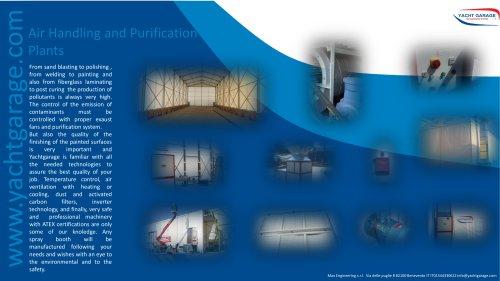 Shipyard's air handling and purification plants
