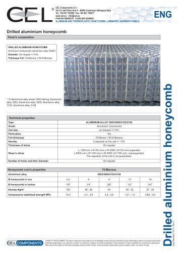 Perforated aluminium honeycomb