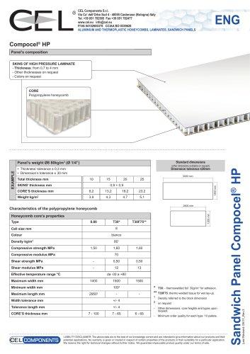 Sandwich panel COMPOCEL HP