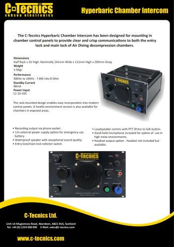 Hyperbaric Chamber Intercom