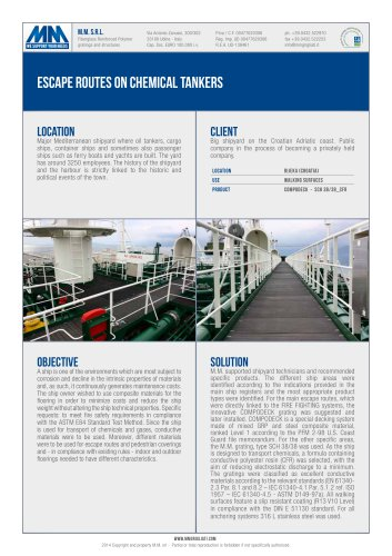 ESCAPE ROUTES ON CHEMICAL TANKERS