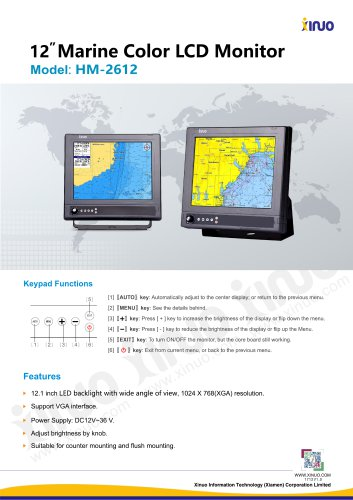HM-2612 Marine LCD Monitor
