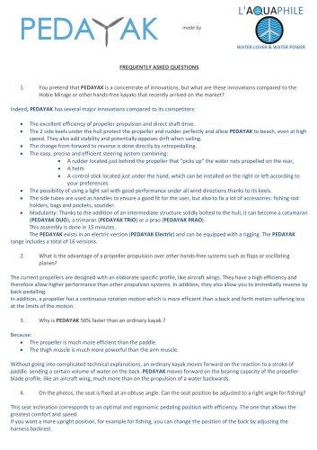 FAQ-PEDAYAK