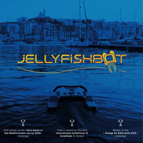 The Jellyfishbot, marine drone for waste and oil spills collection